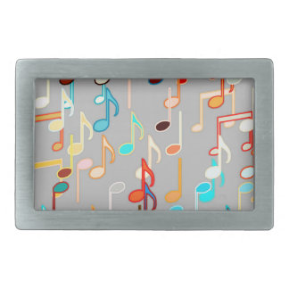 Musical Notes print - Medium Grey, Multi Belt Buckle