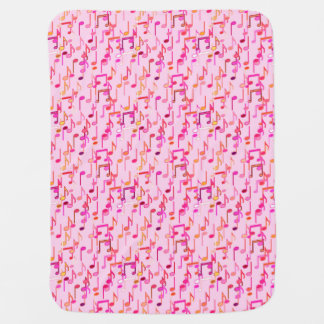 Musical Notes print - pink, multi colors Baby Blankets