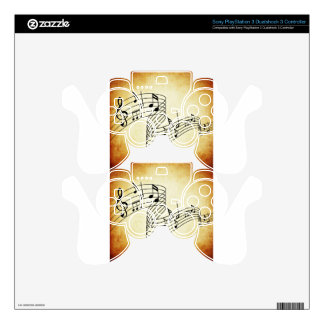 Musical Notes PS3 Controller Decals