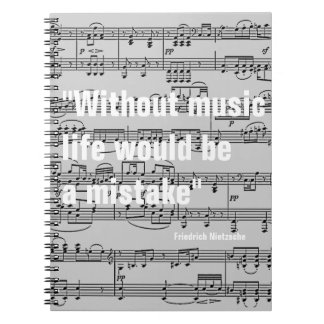 musical notes & quote notebook