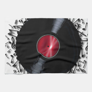 Musical Notes Record Kitchen Towel