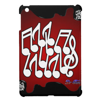 MUSICAL NOTES RED BACKGROUND PRODUCTS CASE FOR THE iPad MINI