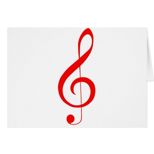 """Musical """"Notes""""_Red Treble Clef Cards"""