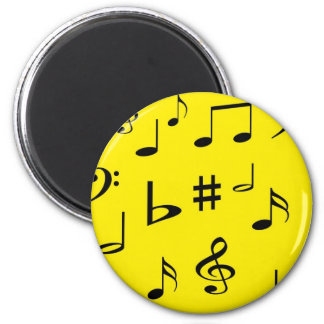 Musical Notes Refrigerator Magnet