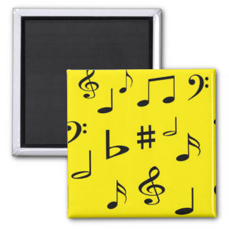 Musical Notes Refrigerator Magnets