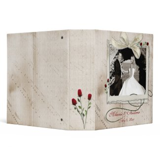 Musical Notes Roses Photo Binder binder