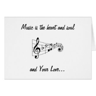 MUSICAL NOTES SENDING LOVE ON YOUR BIRTHDAY CARDS