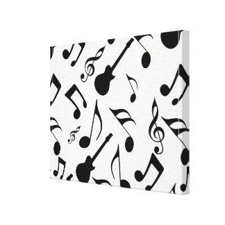 Musical Notes - Sheet Music Design Canvas Print