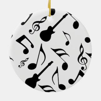 Musical Notes - Sheet Music Design Ceramic Ornament