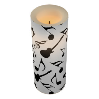 Musical Notes - Sheet Music Design Flameless Candle
