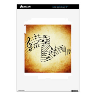 Musical Notes Skins For The iPad 2