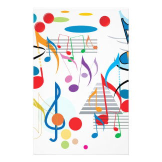 Musical Notes Stationery