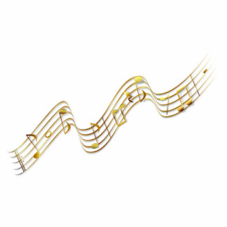 Musical Notes Statuette