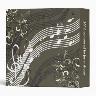 Musical notes + swirls binders, Christmas Gift Binder