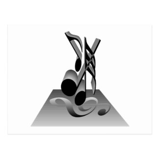 Musical Notes T-shirts and Gifts. Post Card