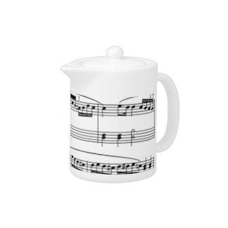 musical notes teapot