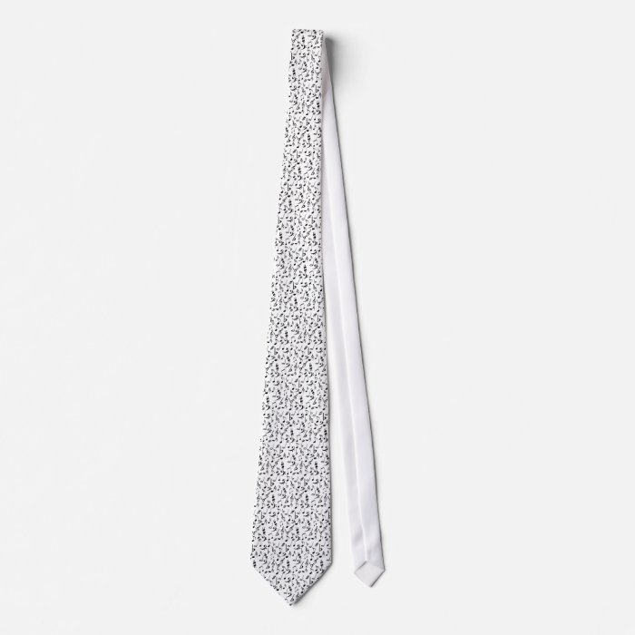 Musical Notes Tie - White & Black by Heard_