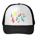 Musical notes trucker hat