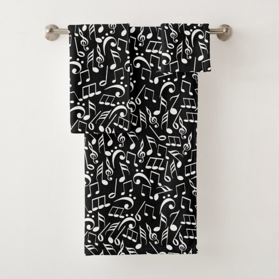 Musical Notes Two Bath Towel Set