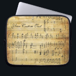 "Musical Notes Vintage Grunge Parchment Computer Sleeve<br><div class=""desc"">Beautiful old world charm meets contemporary technology. Perfect gift for musicians, music teachers and students, songwriters, singers, composers, pianists, guitar and other musical instruments hobbyists and professionals -- or anyone who just loves music. Artistic, vitnage, renaissance, classical music, lovely notes. Available in 3 sizes. Easily add your name or personalize...</div>"
