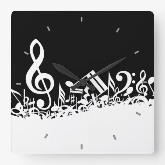 Musical Notes Wall Clock Zazzle Com