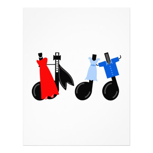 Musical Notes Wearing Clothes Letterhead