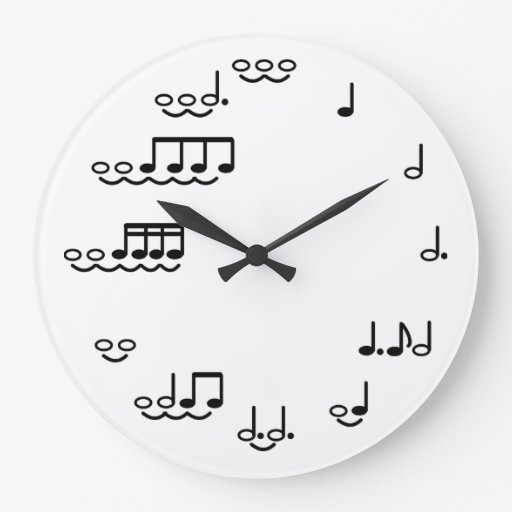 Musical Notes Whimsical Wall Clock for Musicians