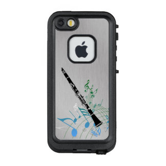 Musical Notes with Clarinet LifeProof FRĒ iPhone SE/5/5s Case
