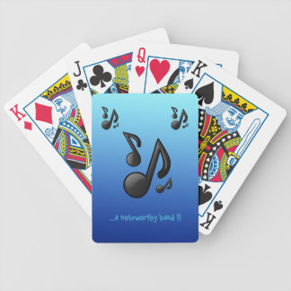 Musical Notes with funny slogan Playing Cards