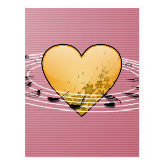 Musical Notes with Heart Design Postcard