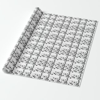 Musical Notes Wrapping Paper Gift Wrap Paper