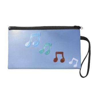 Musical Notes Wristlet Purse