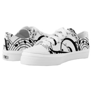 Musical Notes Zipz Low Top