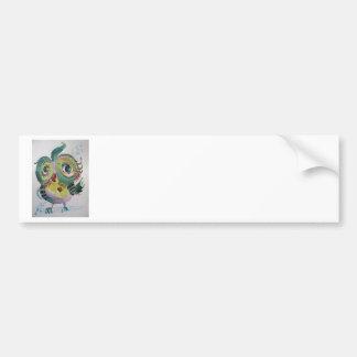 Musical Owl Bumper Sticker