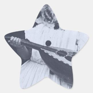 Musical Owl Star Sticker