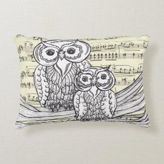 Musical Owls Accent Pillow