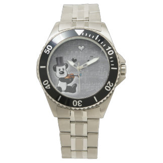 Musical Panda Classic Stainless Steel Watch
