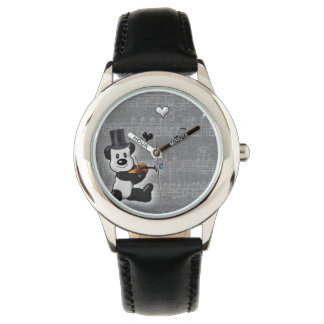 Musical Panda Kid's Stainless Steel Watch