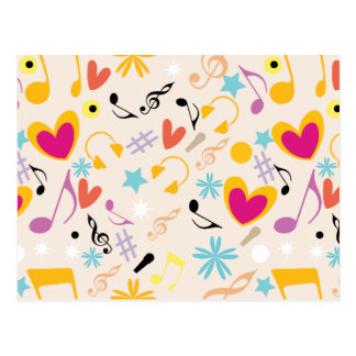 Musical Pattern in Abstract Postcard