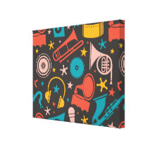 Musical Pattern - Instruments Canvas Print