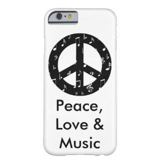Musical Peace Sign Barely There iPhone 6 Case