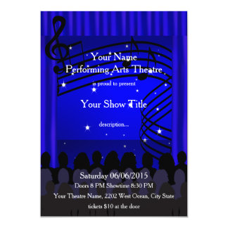 Musical Performing Arts Music Stage Show Invite