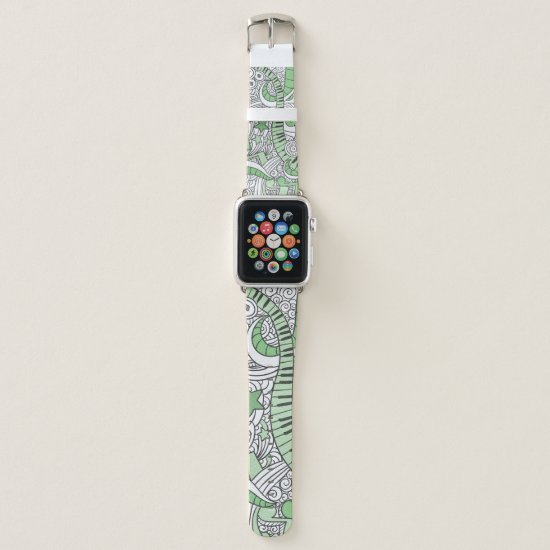 Musical Piano Doodles. Apple Watch Band