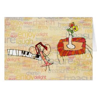 Musical piano fairy greeting card