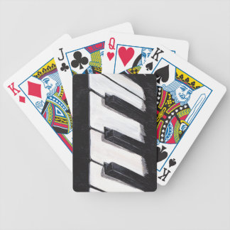 Musical Piano Keyboard Playing cards