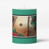Musical Pillar Candle for Christmas