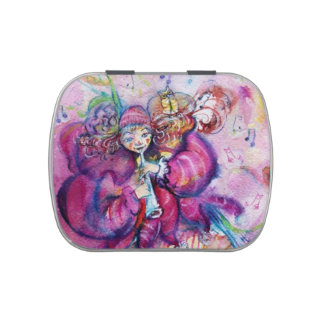 MUSICAL PINK CLOWN JELLY BELLY CANDY TIN