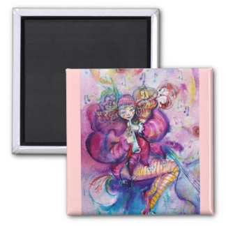 MUSICAL PINK CLOWN MAGNET