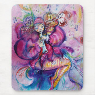 MUSICAL PINK CLOWN MOUSE PAD
