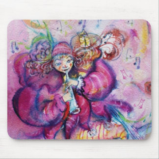 MUSICAL PINK CLOWN MOUSE PADS